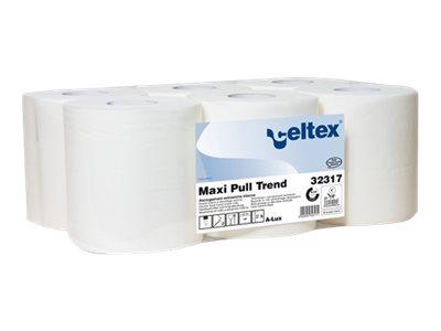 Celtex - Rouleau d'essuie-mains écolabel double épaisseur - 450 feuilles - pack de 6