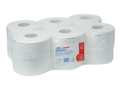 Techline Mini Jumbo - Papier toilette - 12 rouleaux 2 plis
