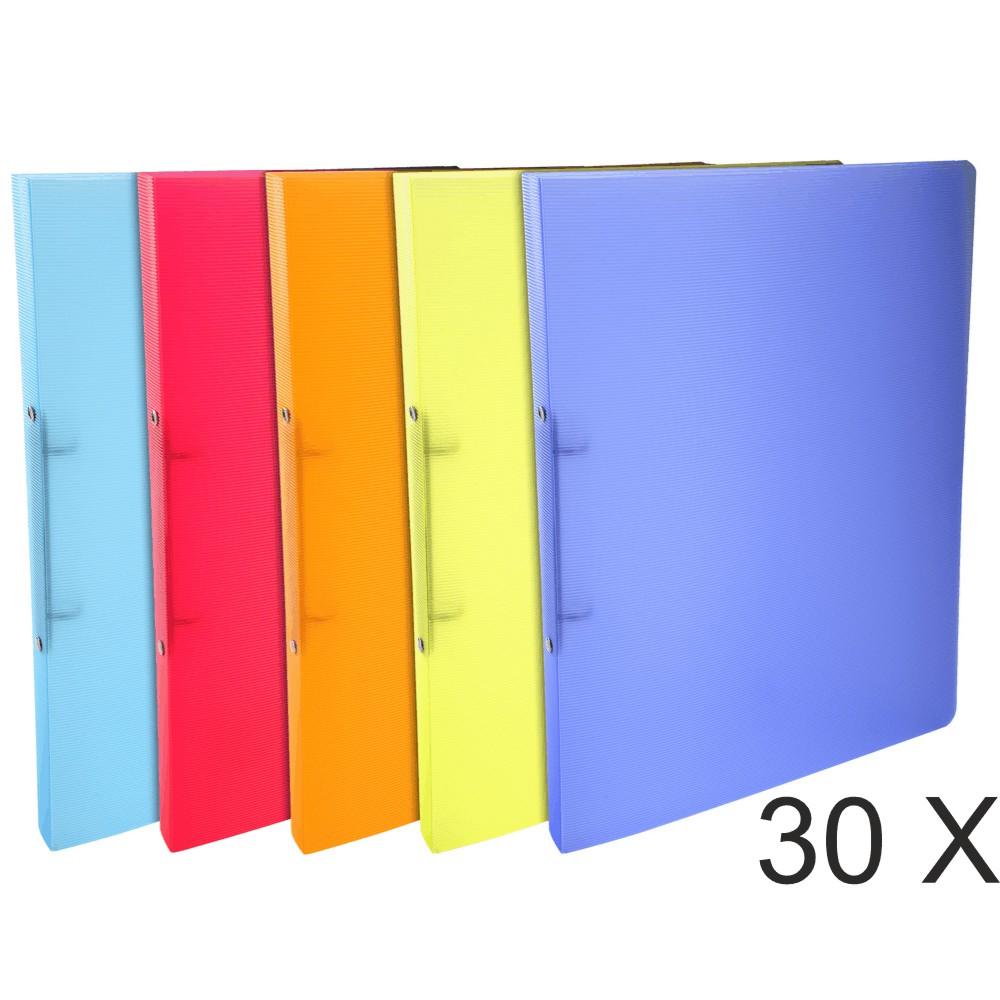 Exacompta Linicolor - 30 Classeurs 2 anneaux - Dos 20 mm - A4 - disponible dans différentes couleurs
