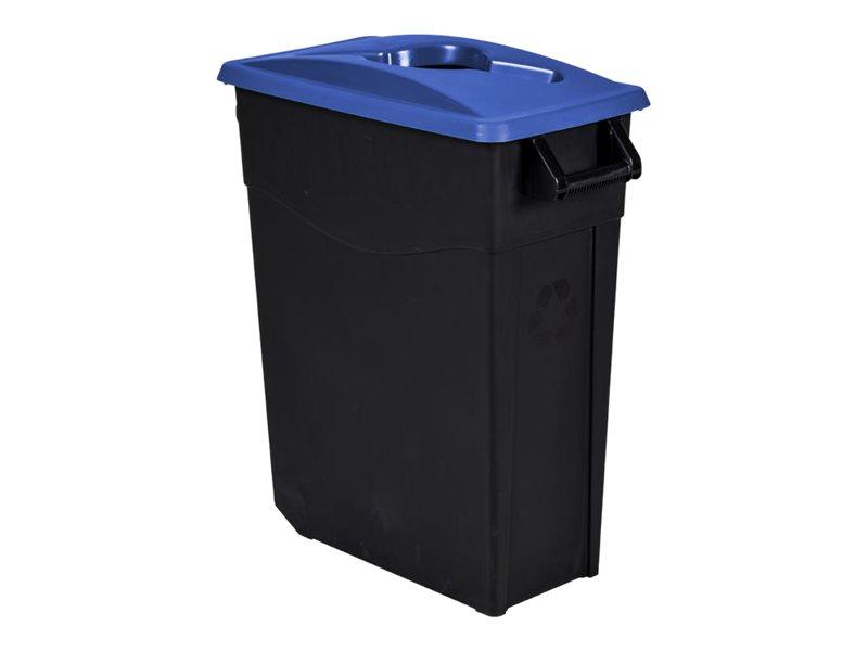 Rossignol MOVATRI - Poubelle de tri mobile 65L - bleu