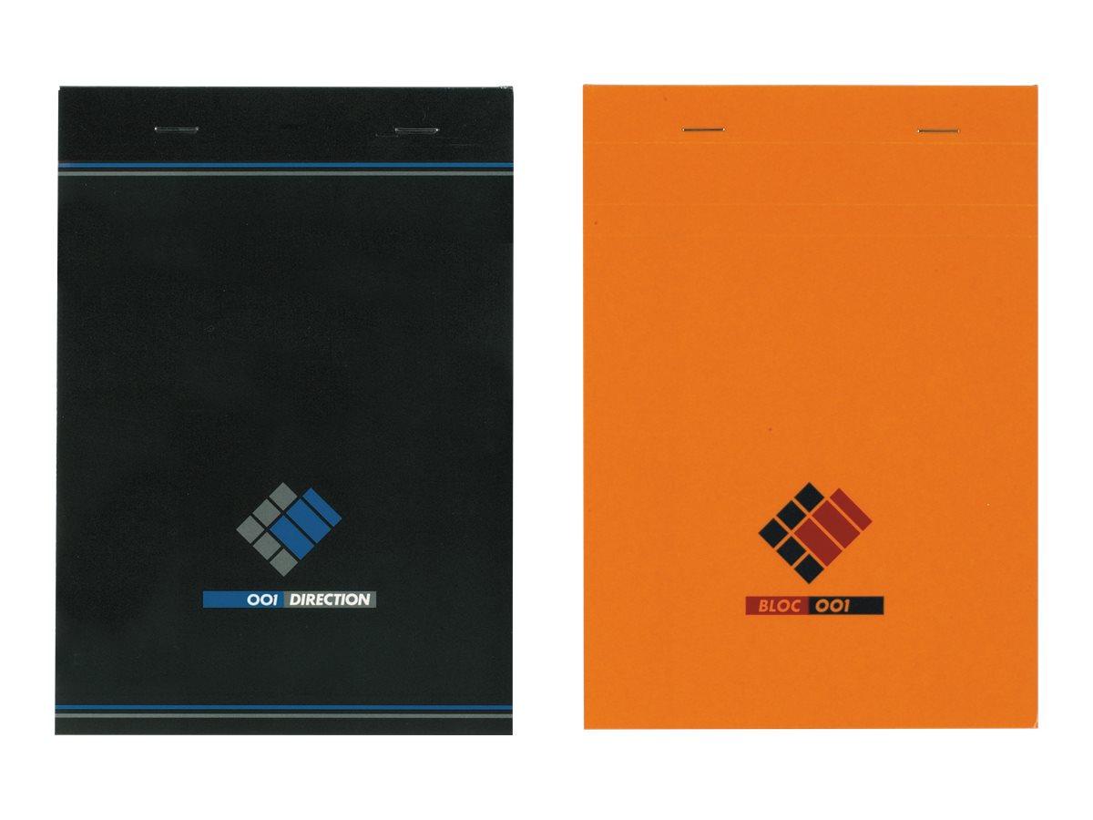 Hamelin - Bloc notes Direction - A4 - 200 pages - petits carreaux - noir et orange