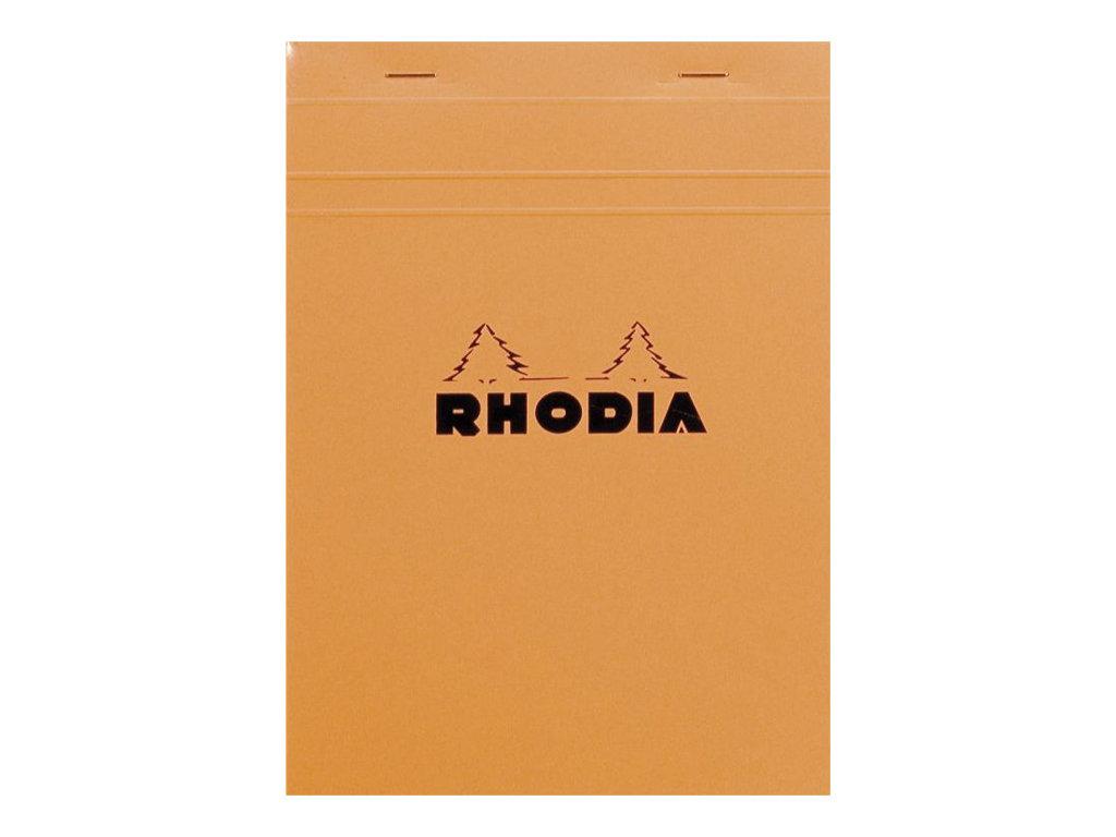 Rhodia Basics - Bloc notes - A5 - 160 pages - réglé avec marges - 80g - orange
