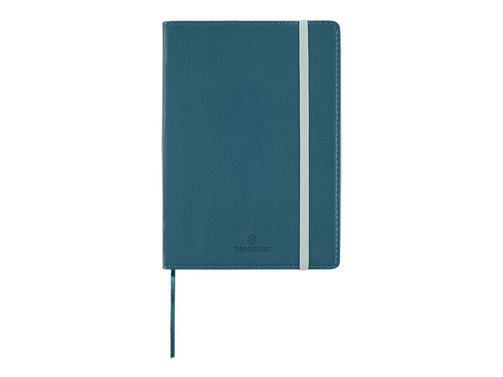 Oberthur Carmen - Carnet de notes souple A6 - ligné - 200 pages - bleu