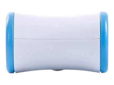 WATT & CO - Multiprise biplite rotative - blanc/bleu