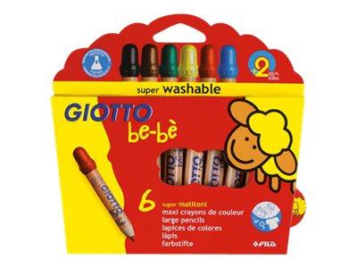 GIOTTO Bébé - 6 Crayons de couleur