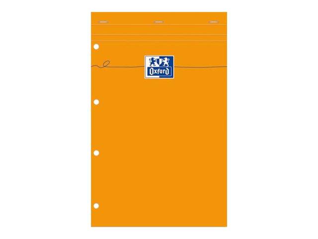 Oxford - Pack de 5 Blocs notes - A4 - 160 pages - petits carreaux - perforés