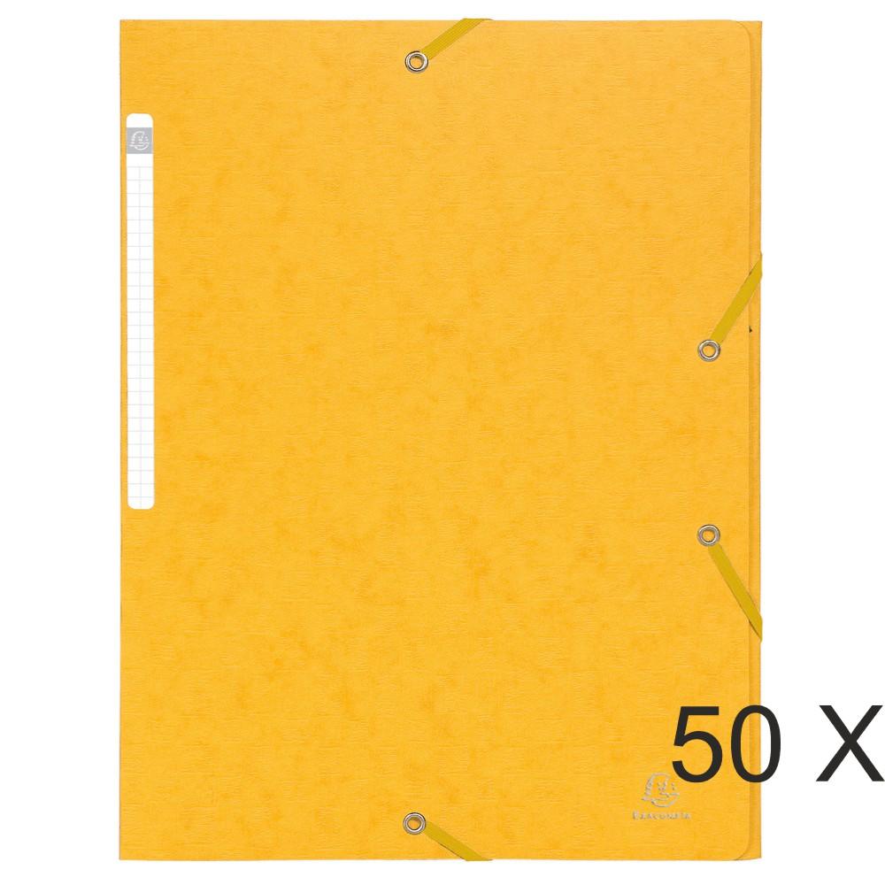 Exacompta Scotten - 50 Chemises sans rabat - A4 - jaune