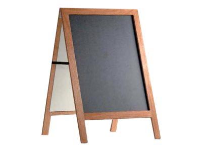 Promocome - Chevalet de sol magnétique revêtement ardoise - 60 x 80 cm - double face