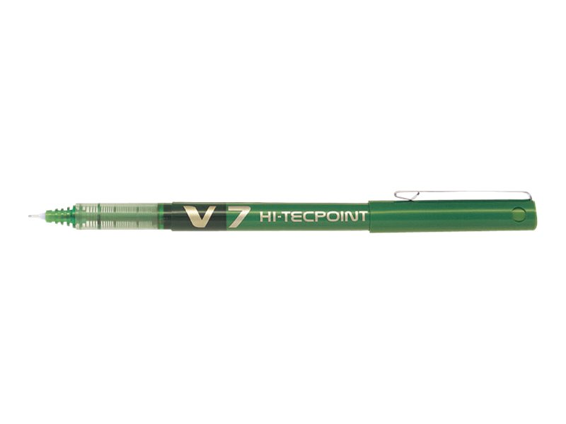 Pilot Hi-Tecpoint V7 - Pack de 12 - rollers - 0,7mm - vert