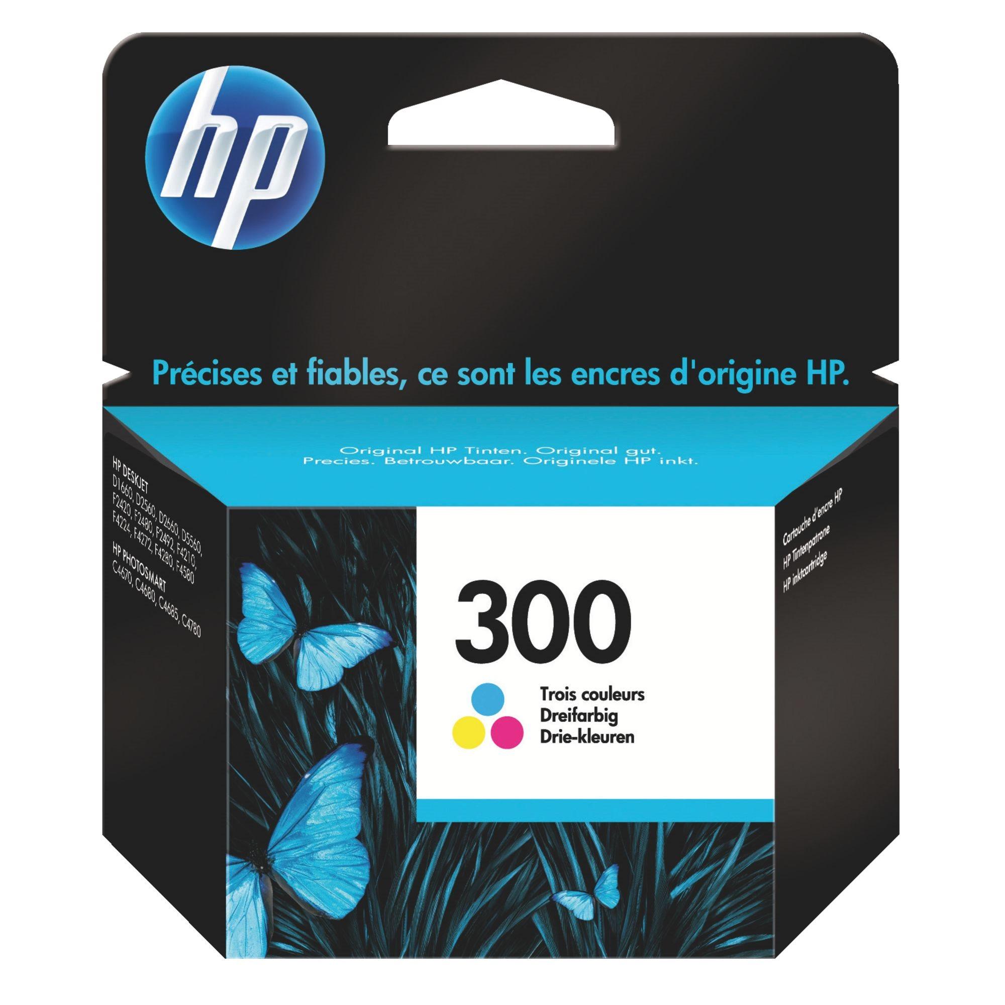 HP 300 - cyan, magenta, jaune - cartouche d'encre originale