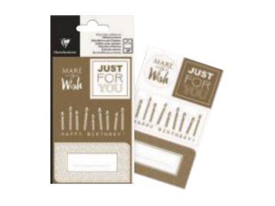 Clairefontaine Alliance - 16 Étiquettes cadeau - or