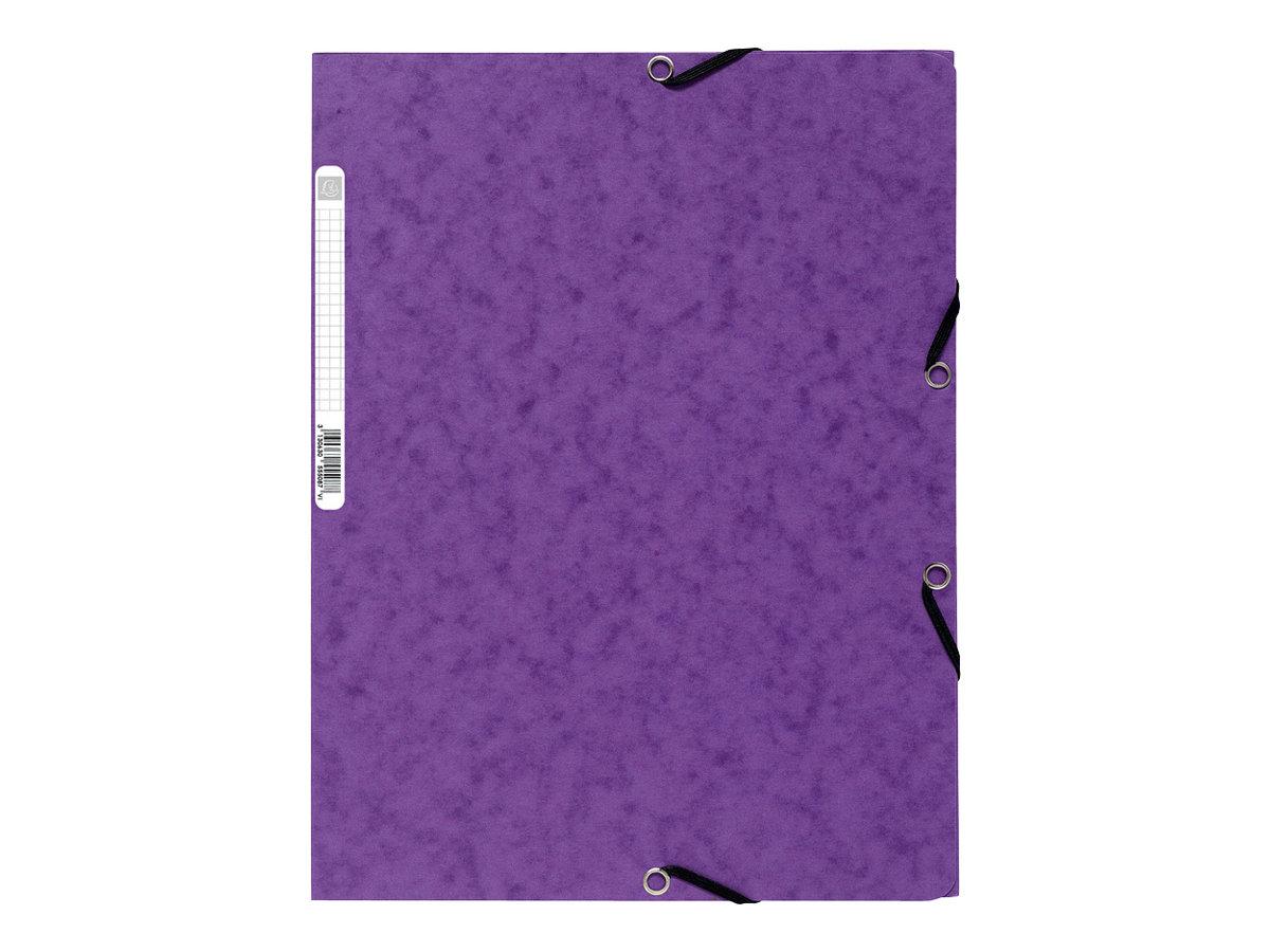 Exacompta Nature Future - Chemise à 3 rabats - A4 - pour 250 feuilles - violet
