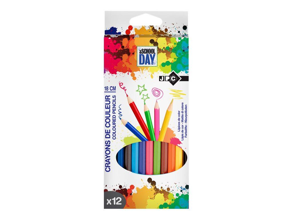 Wonday - 12 Crayons de couleur Pointe moyenne