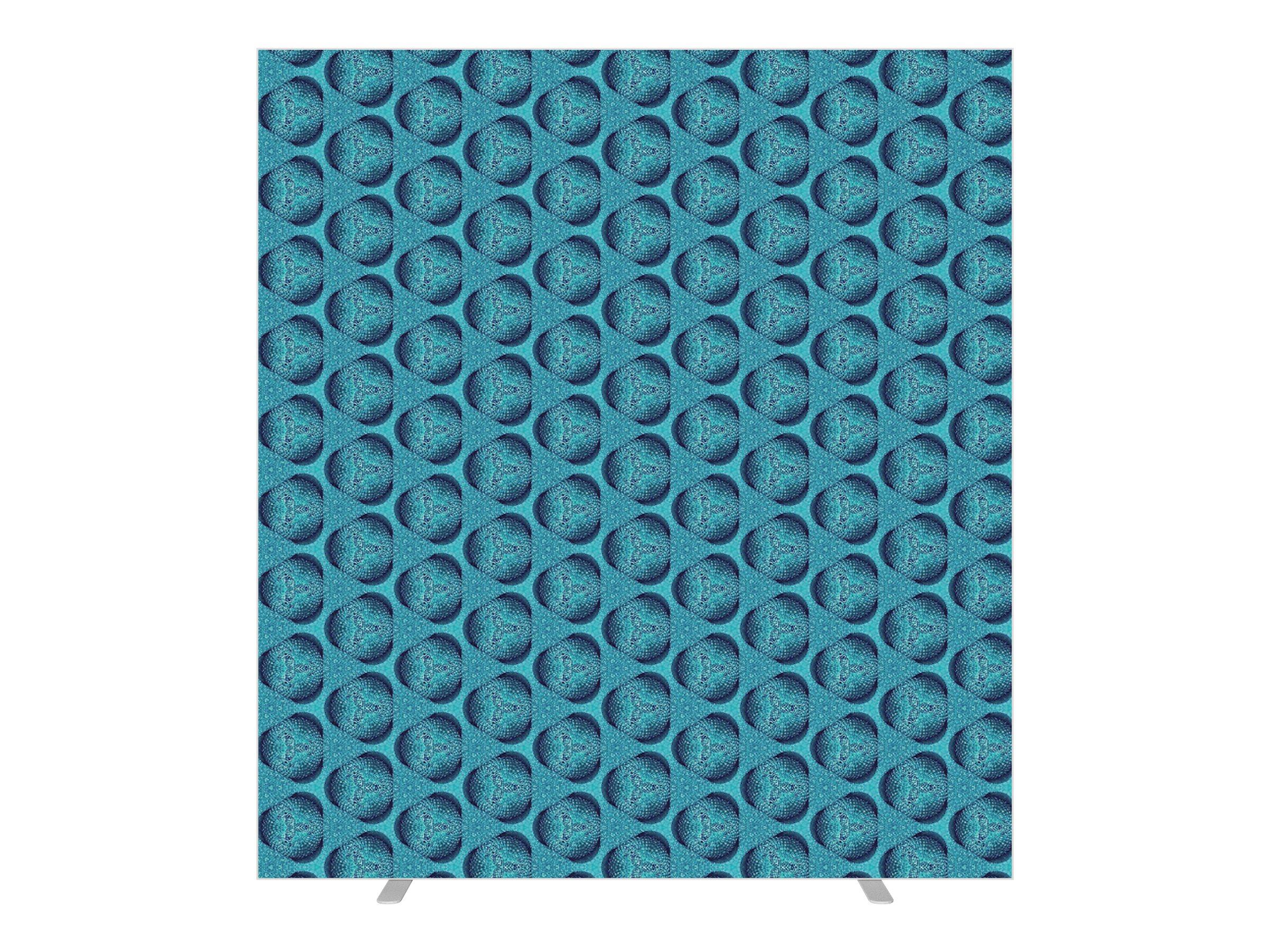 Cloison de séparation EASYSCREEN - L160 x H174 cm - mosaïque bleue