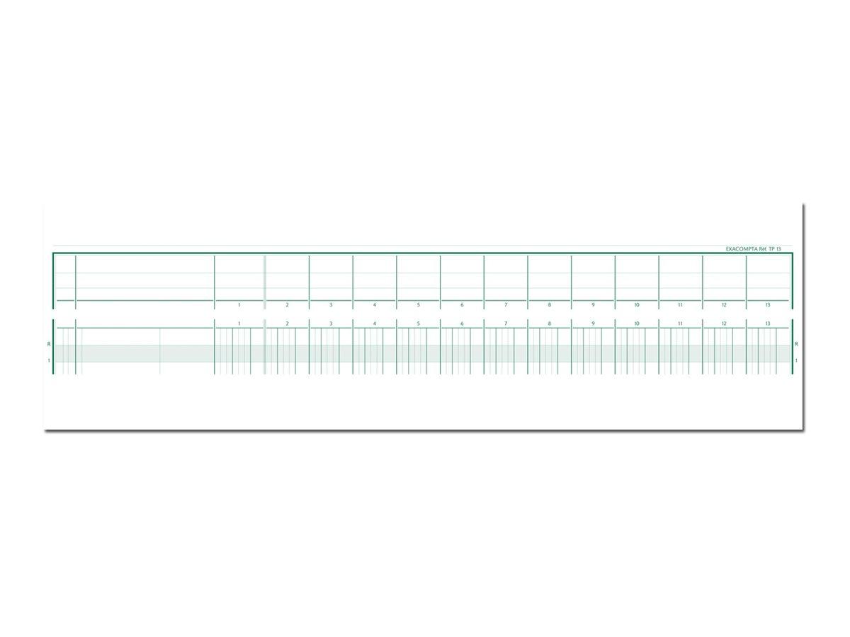 Exacompta - Piqûre tête paresseuse - 13 colonnes par page - 27 x 32 cm
