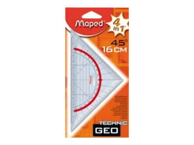 Maped Technic - Équerre 16 cm - 45°