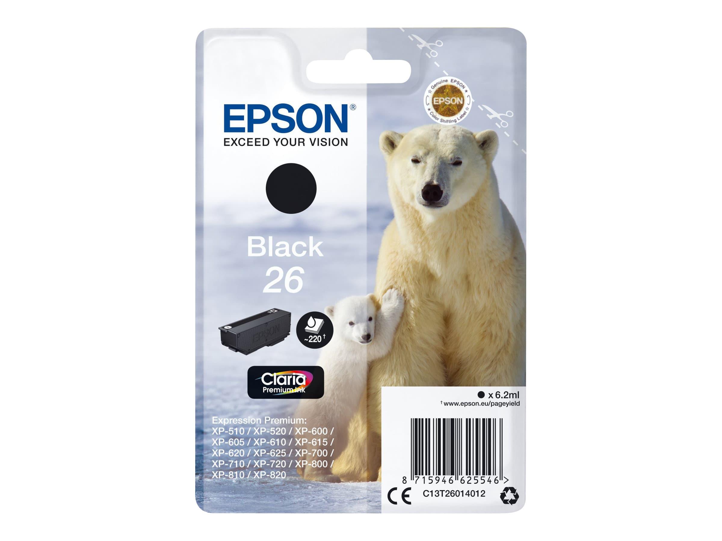 Epson 26 Ours polaire - noir - cartouche d'encre originale