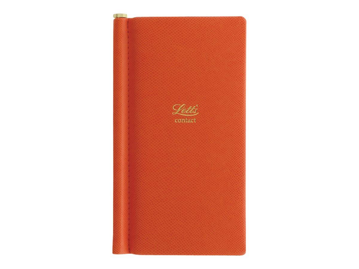 Letts Legacy Slim Pocket - Répertoire Carnet d'adresses de poche 8,5 x 15,3 cm - orange