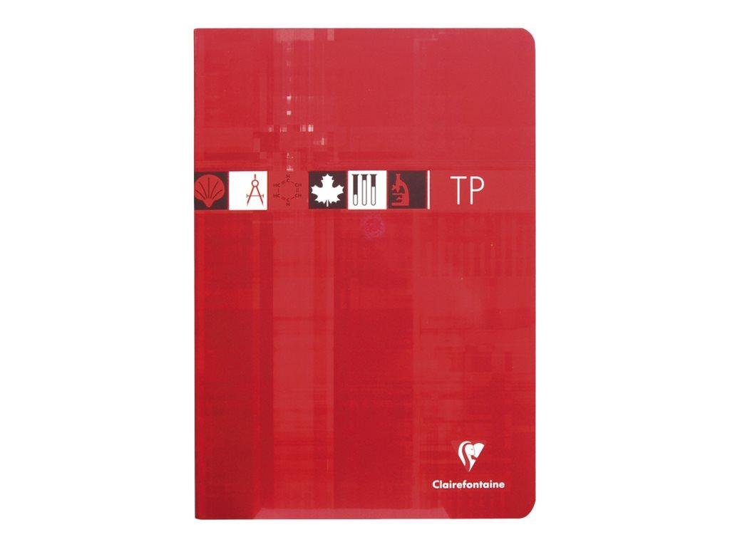 Clairefontaine - Cahier de travaux pratiques (TP) - A4 (21x29,7 cm) - 80 pages - grands carreaux (Seyes)/uni - disponible dans différentes couleurs