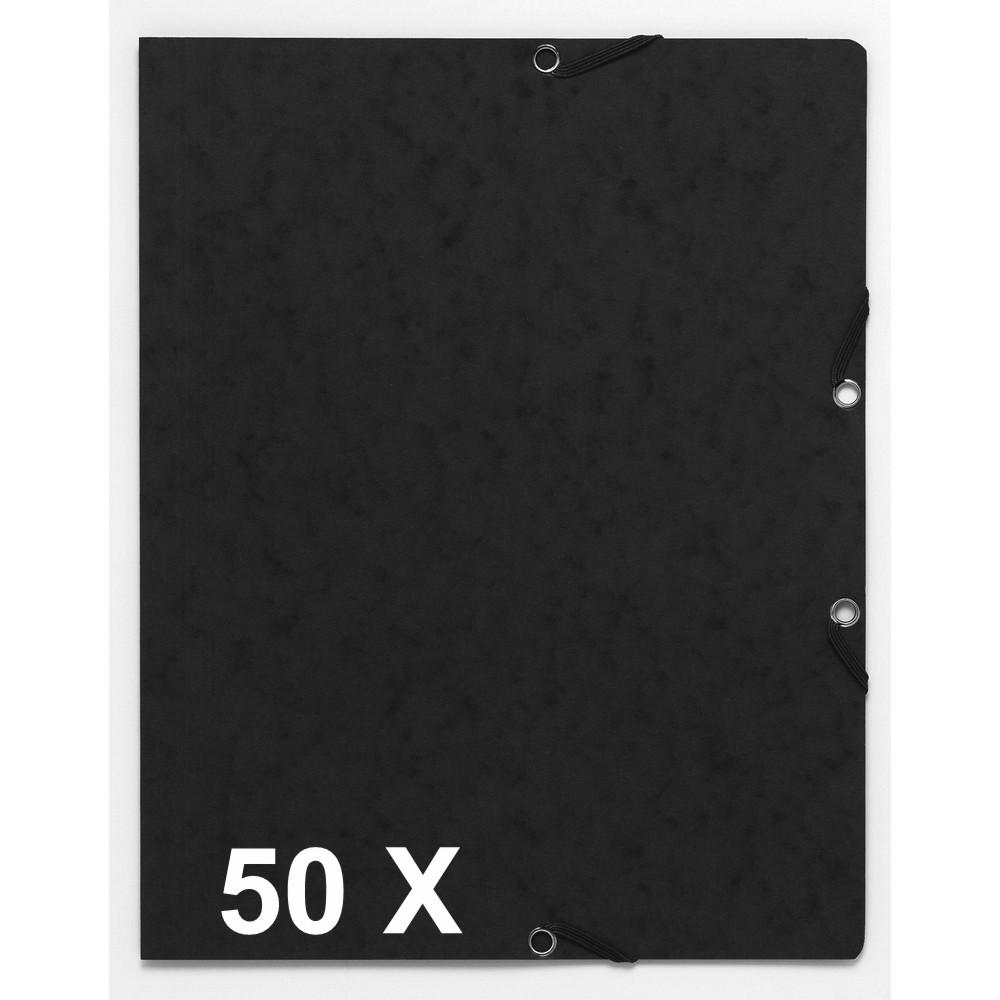 Exacompta - 50 Chemises recyclées sans rabat - A4 - noir