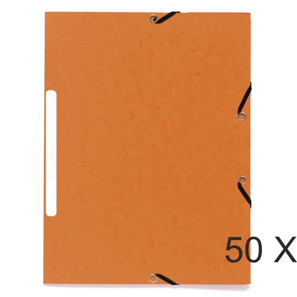 Exacompta - 50 Chemises recyclées à 3 rabats - A4 - orange