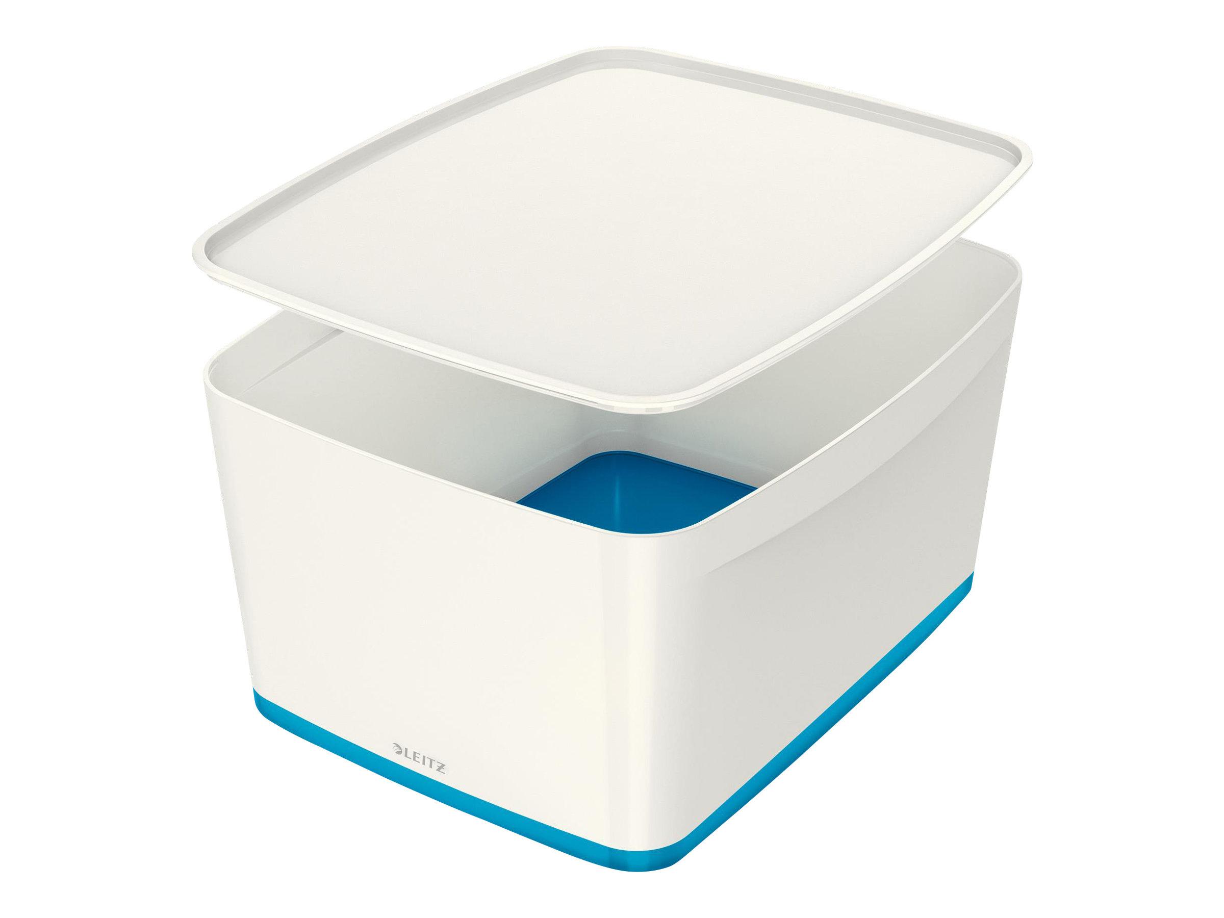Leitz MyBox - Boîte de rangement format moyen - blanc/bleu