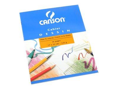 Canson - Cahier à dessin 24 x 32 cm - 48 pages - 125g - blanc