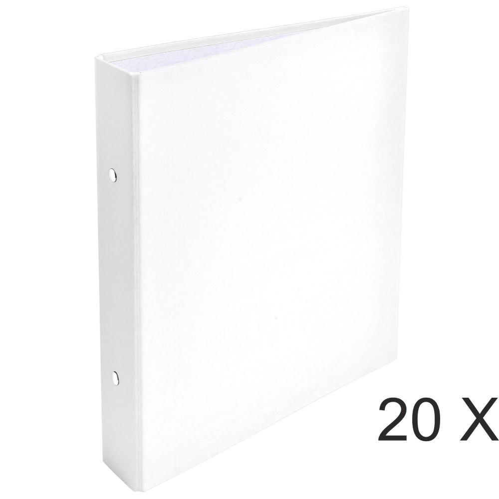 Exacompta - 20 Classeurs 2 anneaux - Dos 40 mm - A5 - blanc