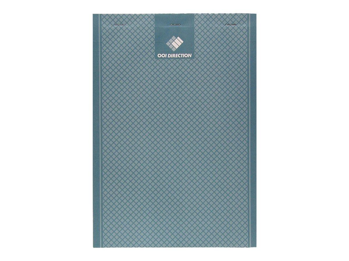 Hamelin - Bloc notes Direction - A4 - 200 pages - petits carreaux - gris