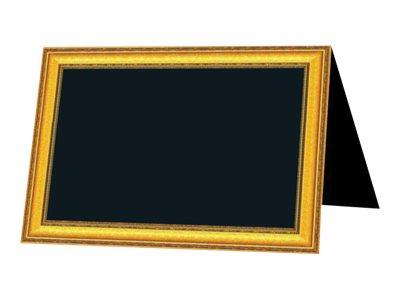 Bequet - 10 Chevalets neutres - 6 x 4 cm - cadre doré