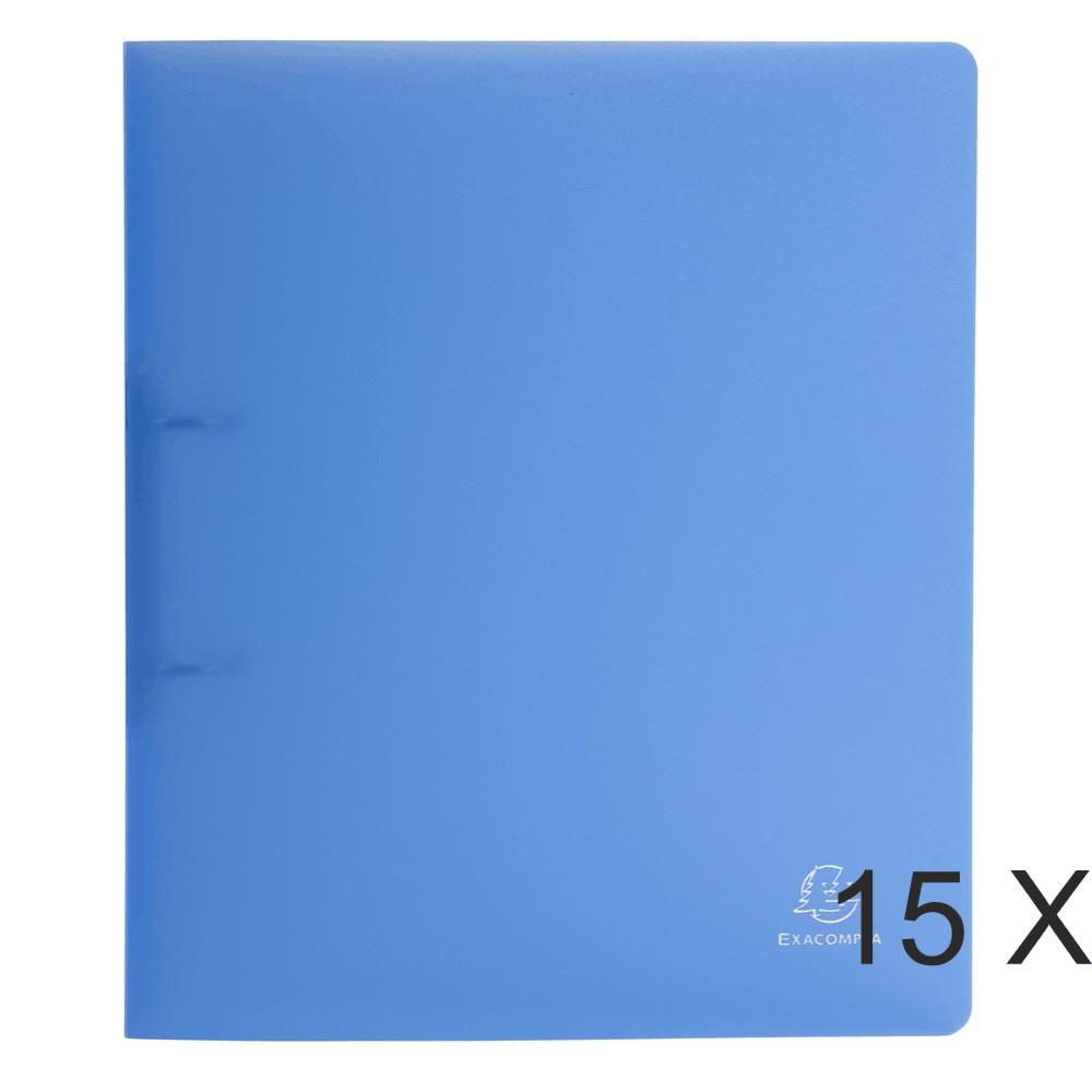 Exacompta Chromaline - 15 Classeurs 2 anneaux - Dos 40 mm - A4 Maxi - bleu