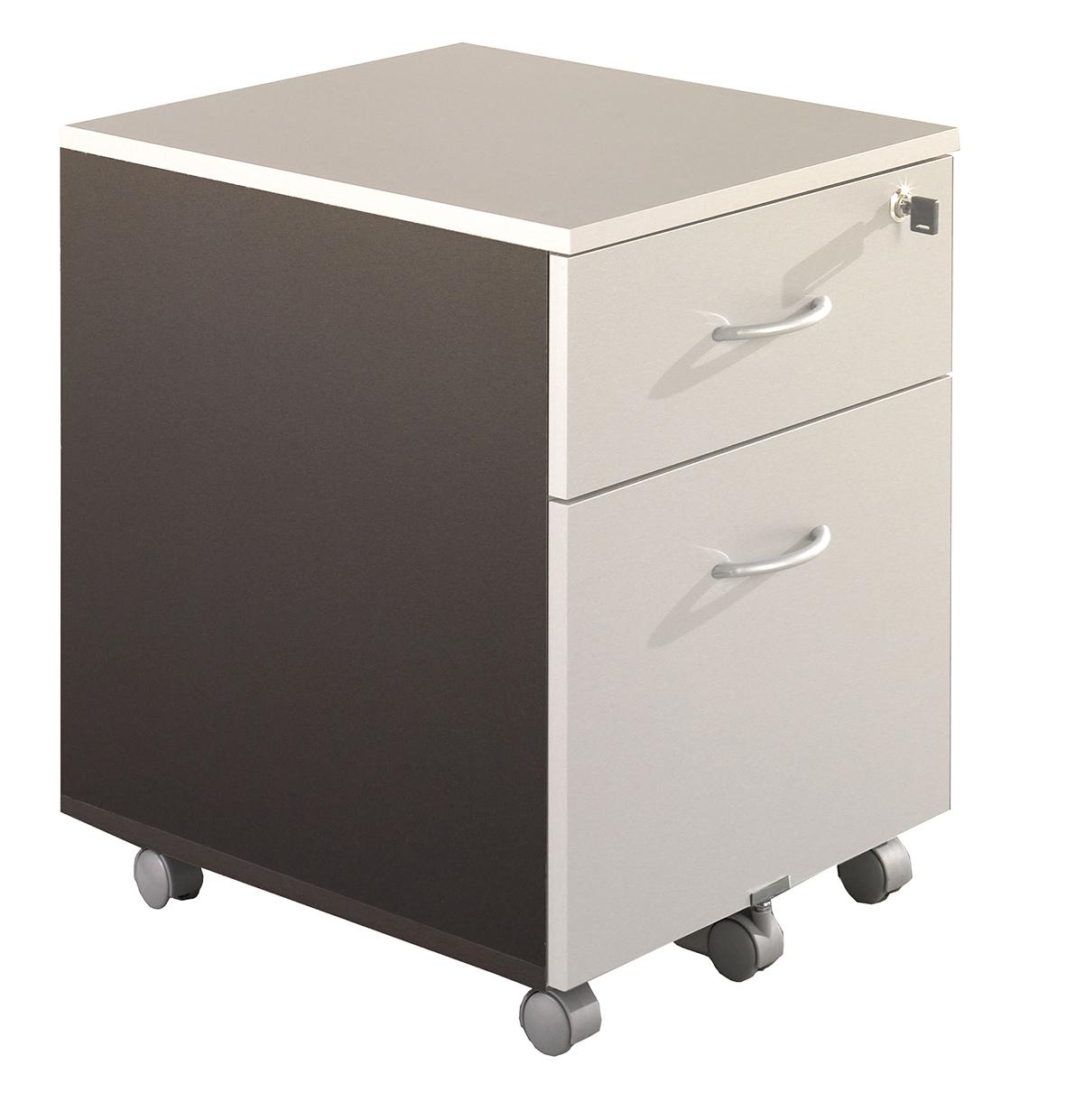 Caisson mobile WINCH 2 tiroirs dont 1 pour dossiers suspendus - Anthracite