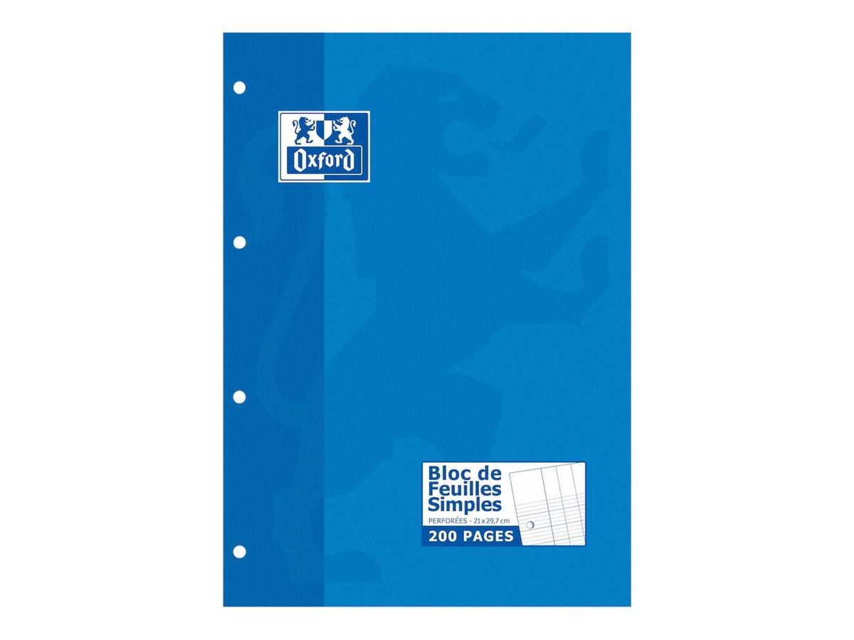 Hamelin - Bloc notes - A4 - 200 pages - grands carreaux - perforé
