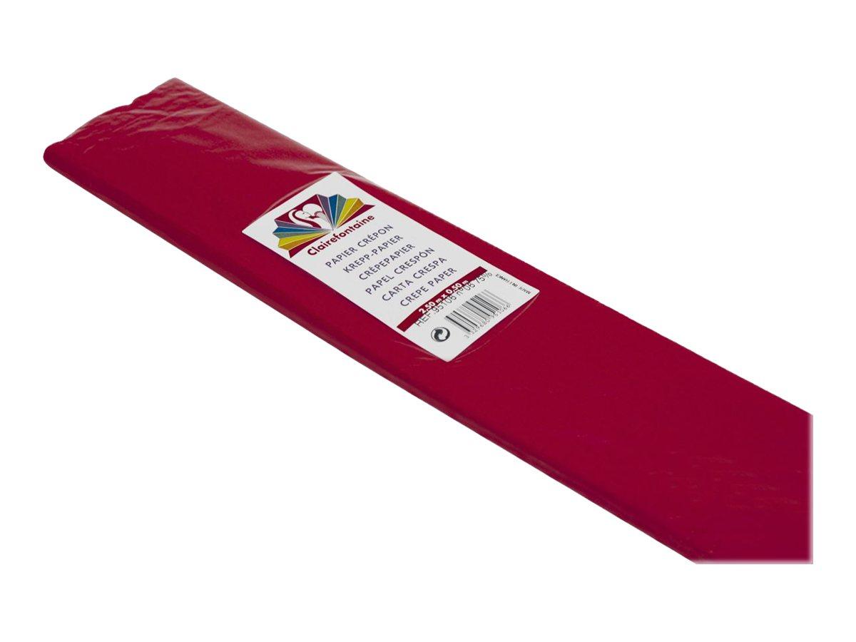 Clairefontaine Premium - Papier crépon - Rouleau 50 cm x 2,5 m - 40 g/m² - rouge