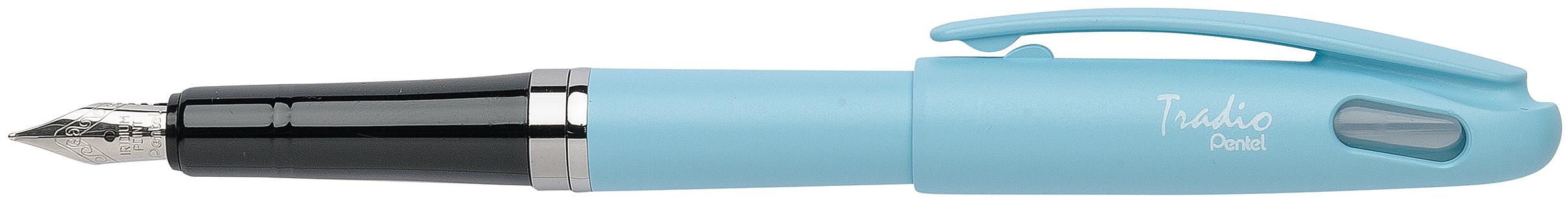 Pentel Tradio Pastel - Stylo plume - corps bleu