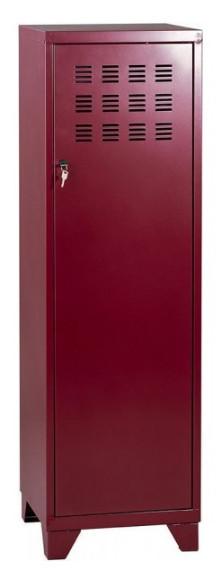 Casier de bureau avec pieds - 133 x 40 x 40 cm - rouge rubis nacré