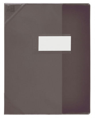 Oxford School Life - Protège cahier - A4 (21x29,7 cm) - noir translucide