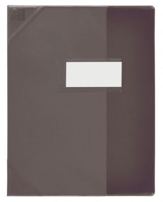 Oxford Strong Line - Protège cahier sans rabat - 24 x 32 cm - noir translucide