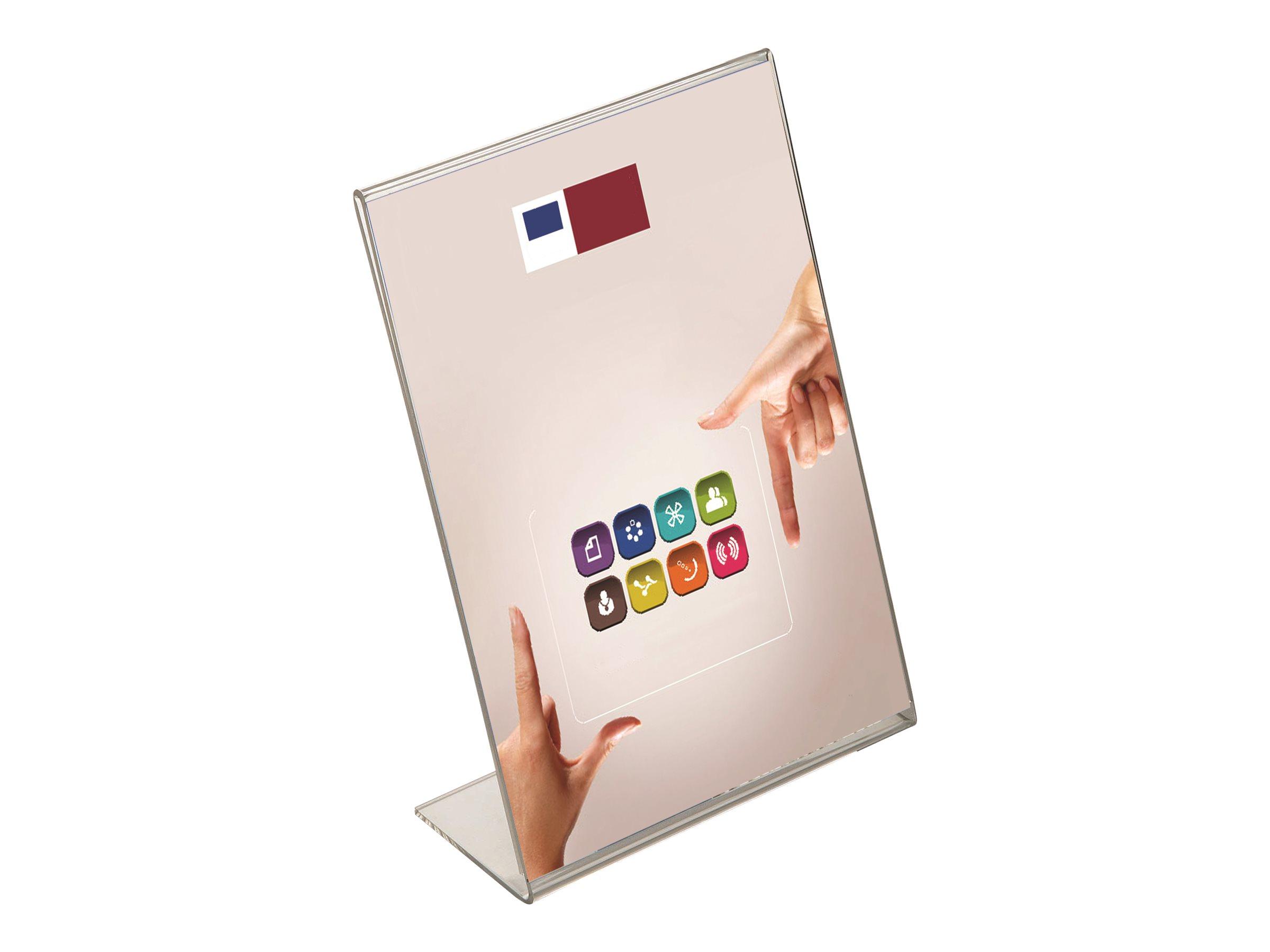 Promocome - Présentoir de comptoir incliné - A4 portrait