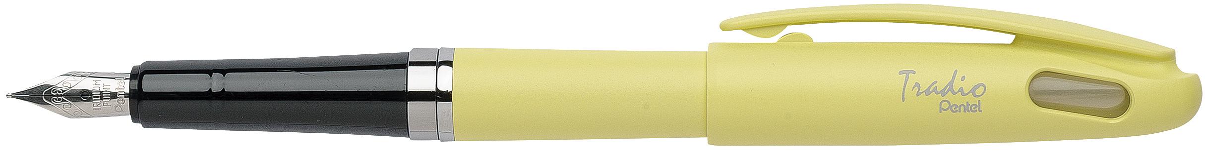Pentel Tradio Pastel - Stylo plume - corps jaune