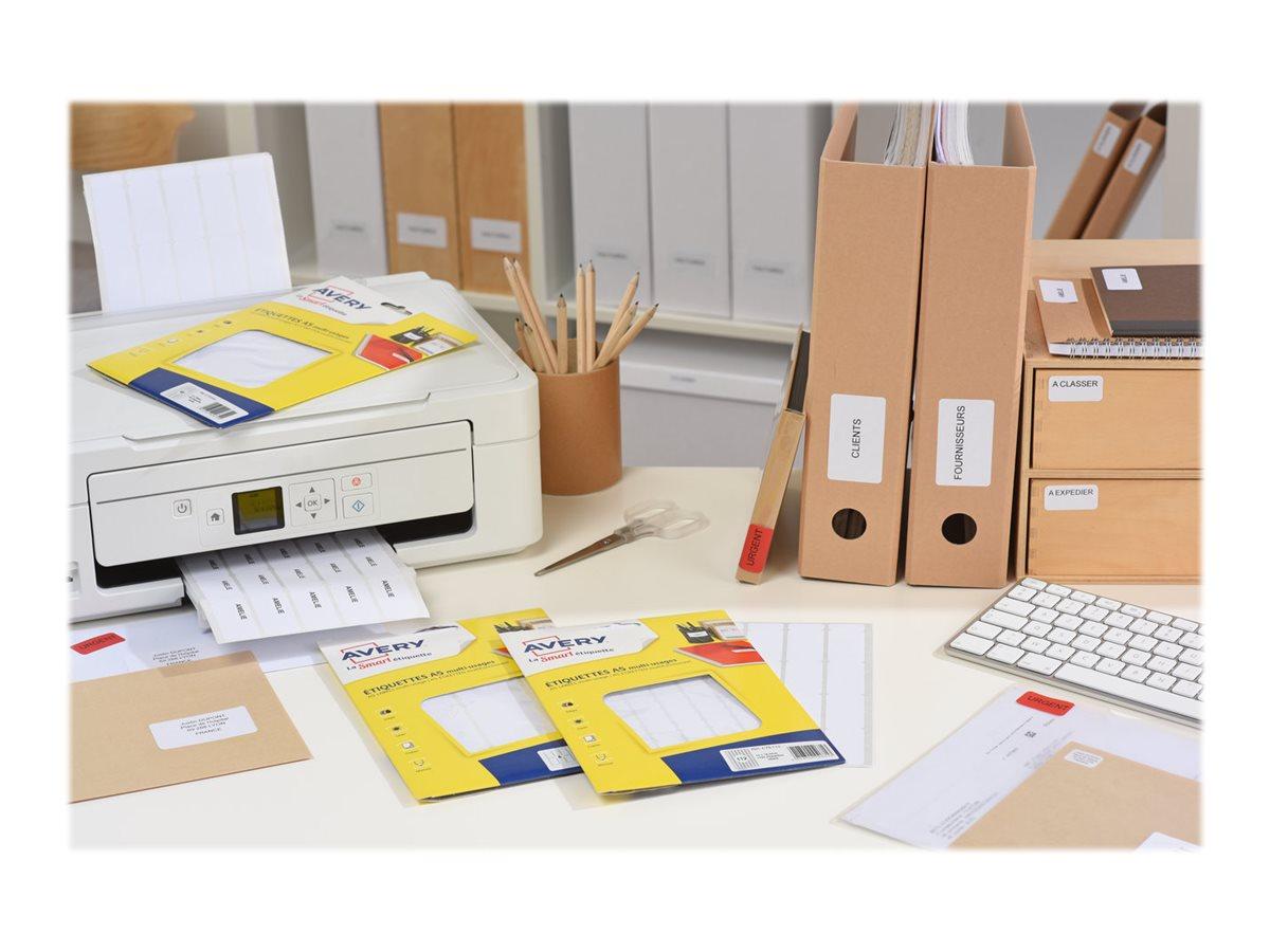 Avery - Etui A5 - 160 Étiquettes multi-usages blanches - 38,5 x 65 mm - réf ETE010