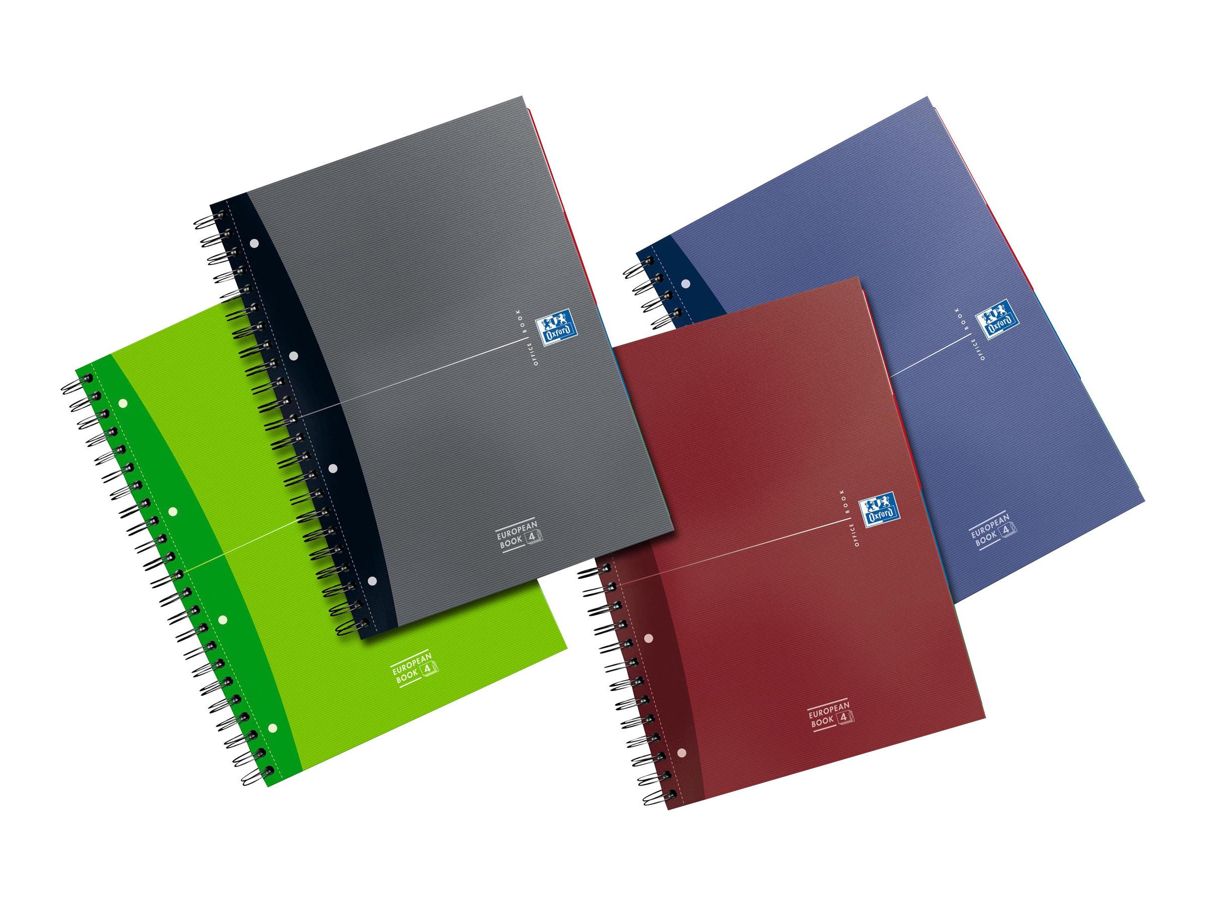 Oxford Europeanbook - Cahier A4 (21x29,7 cm) - 240 pages - petits carreaux (5x5 mm) - disponible dans différentes couleurs