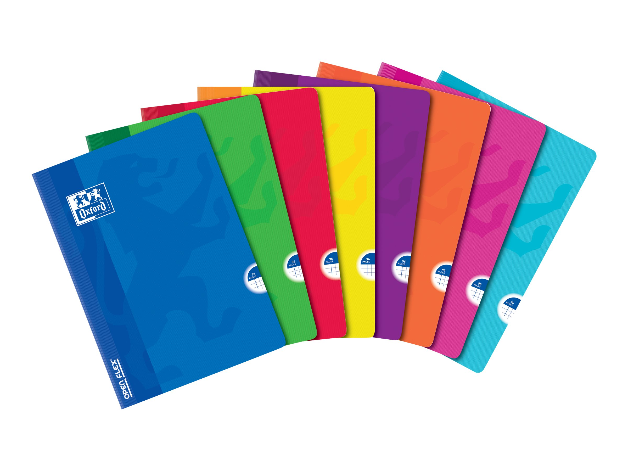 Oxford Openflex - Cahier polypro A4 (21x29,7 cm) - 96 pages - petits carreaux (5x5 mm) - disponible dans différentes couleurs