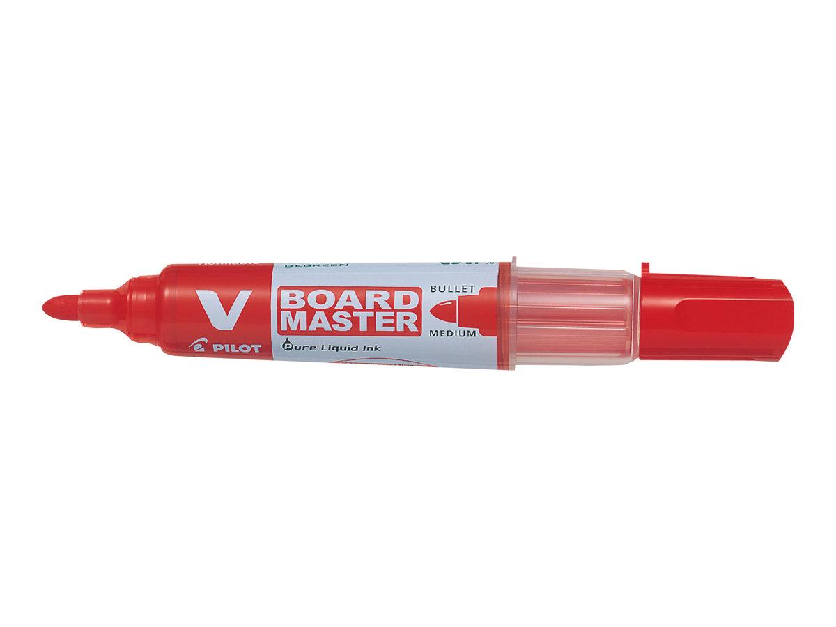 Pilot V BOARD MASTER - Marqueur effaçable - pointe ogive - rouge