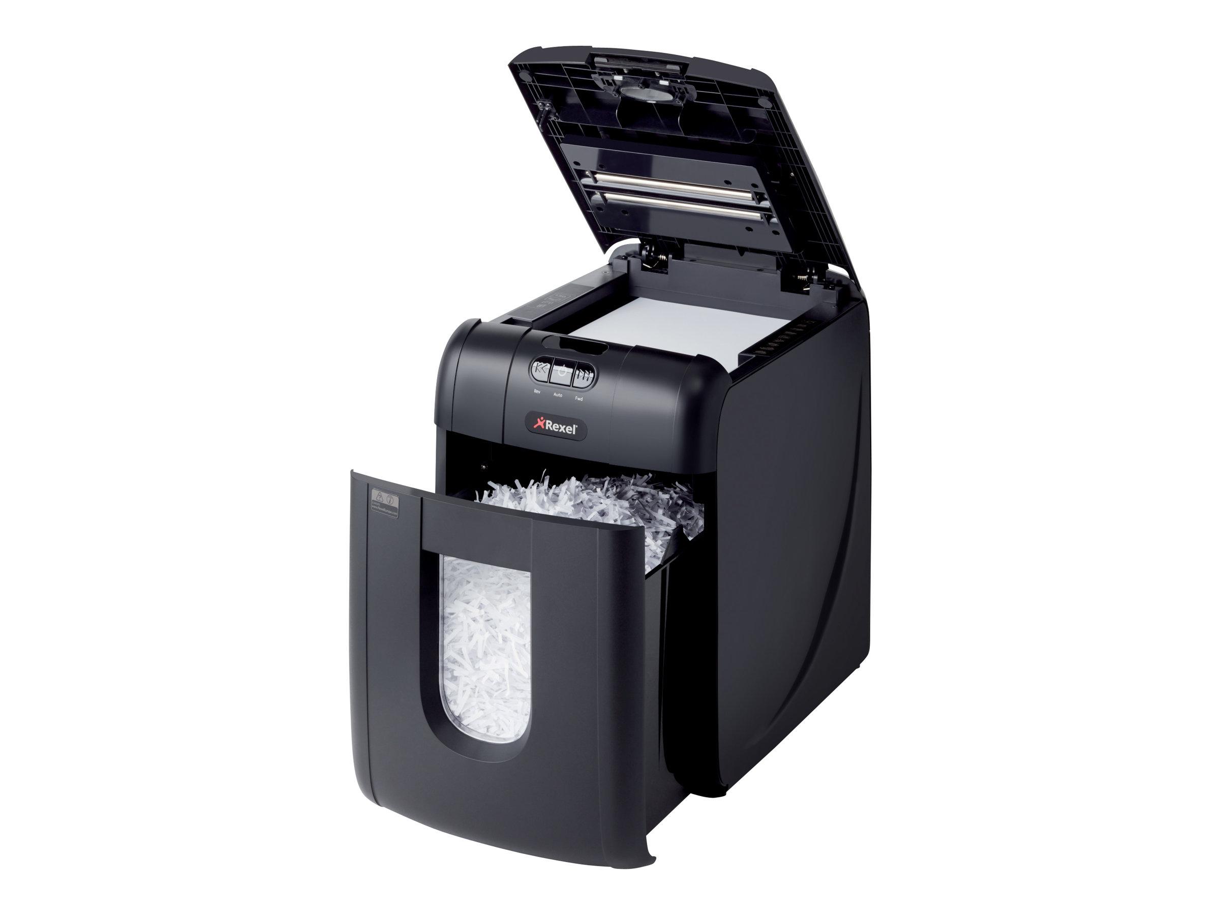 Rexel Auto+ 130X - destructeur de documents coupe croisée - 130 feuilles - Corbeille 26 litres