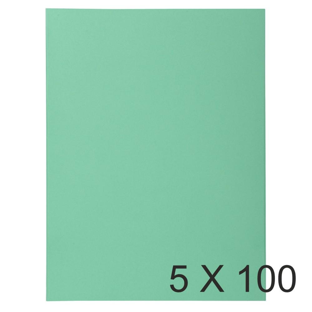 Exacompta Super 210 - 5 Paquets de 100 Chemises - 210 gr - vert vif