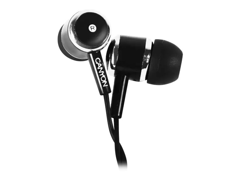 CANYON  Kit main libre - Ecouteurs filaire avec micro - intra-auriculaire - noir