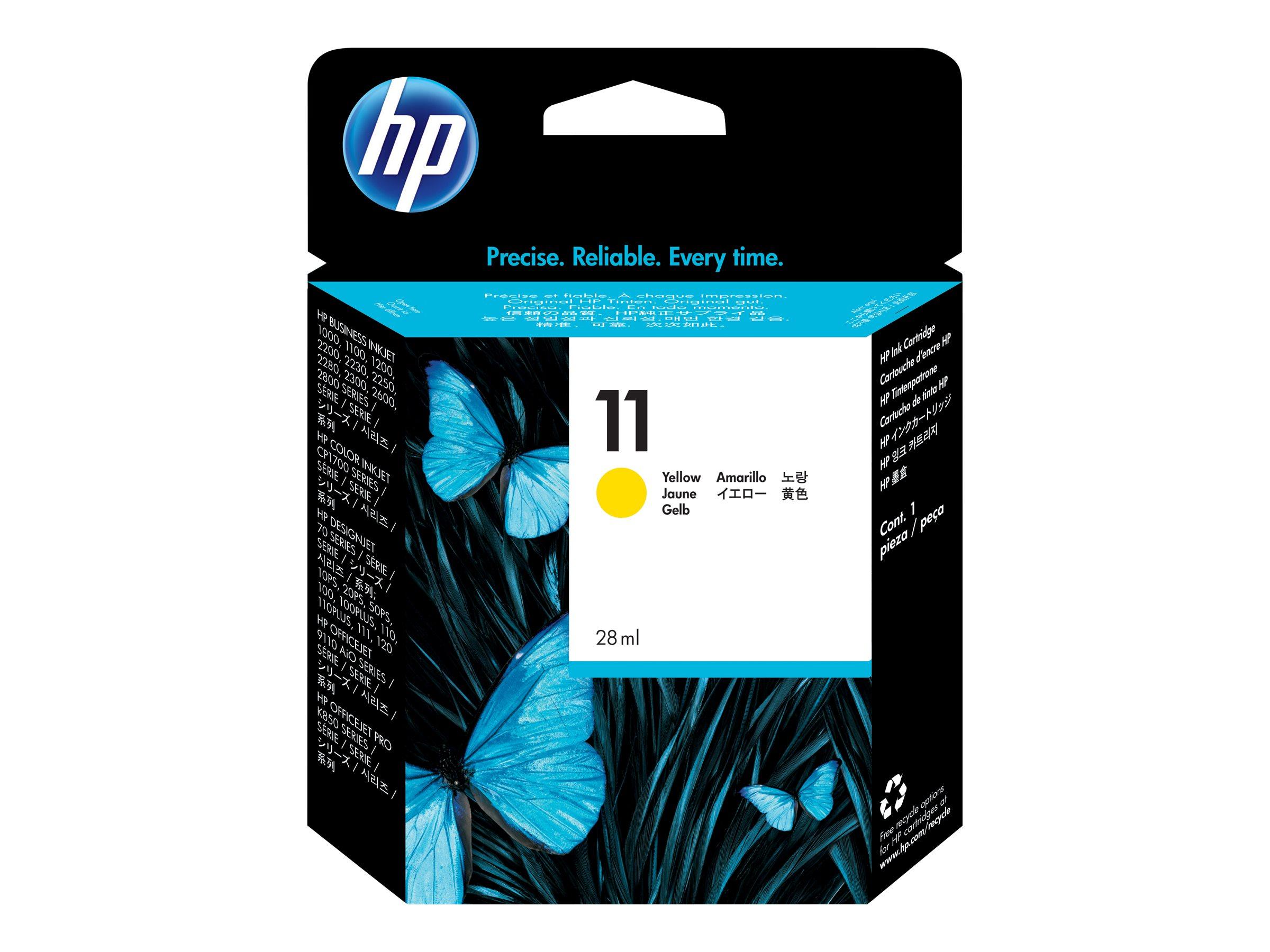 HP 11 - jaune - cartouche d'encre originale
