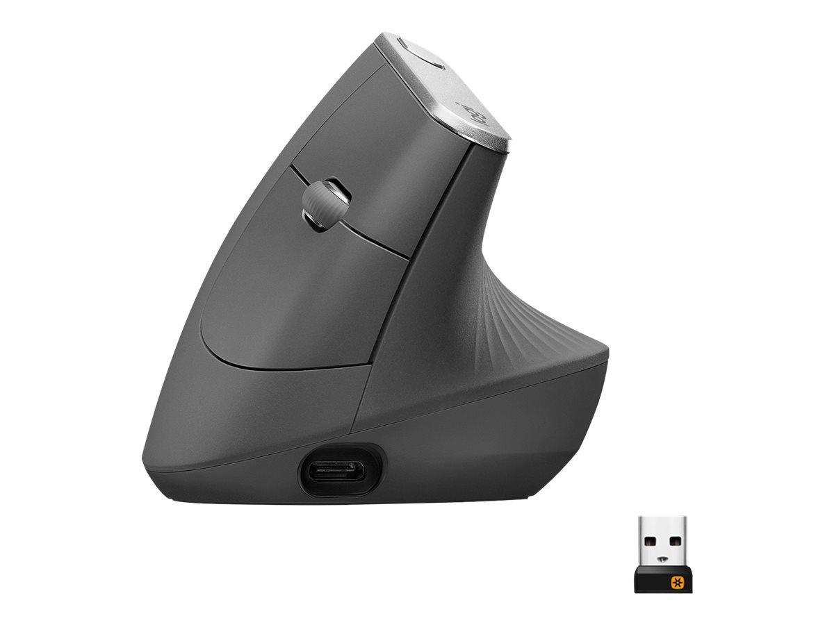 Logitech MX Vertical - souris sans fil - graphite