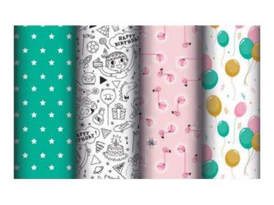 Clairefontaine Excellia - Papier cadeau - 70 cm x 2 m - 80 g/m² - collection birthday